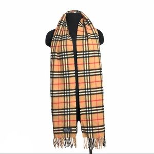 Authentic Burberrys Lambswool Vintage Check Scarf
